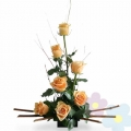 Arrangement with Roses Day