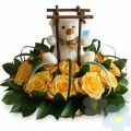 Arrangement with Roses Takara